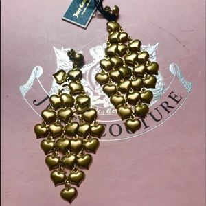 Juicy Couture black label Earrings heart chainmail